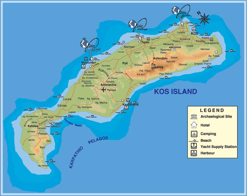 Island Of Kos Map