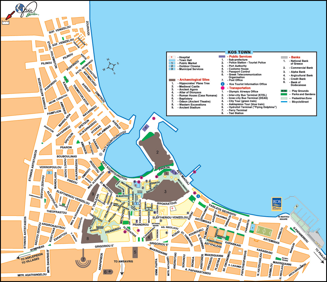 Maps of Kos island